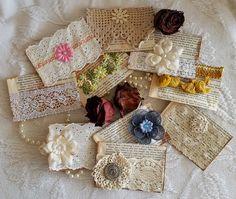 Early American historical art, books,and handmade journals & stationery. Handmade Envelopes, Handmade Tags, Handmade Journals, Journal Paper, Junk Journal, Art Journals, Fabric Art, Fabric Crafts, Paper Crafts