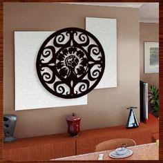 Quadro Mandala Em Escultura De Mdf Vazado - R$ 179,90