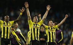 ~ Mats Hummels and Borussia Dortmund celebrating their advance to the Finals of the UEFA Champions League ~