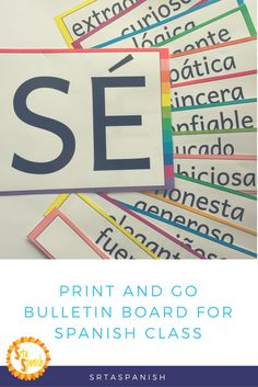 Who doesn't love a whole lot of colors with not a lot of prep? Print and go bulletin board, with editable options, ready for your classroom!