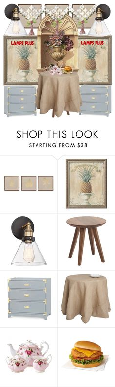 """""""Holiday Entertaining with Lampsplus"""" by irinavsl ❤ liked on Polyvore featuring interior, interiors, interior design, home, home decor, interior decorating, JLA Home, Bungalow 5 and Royal Albert"""