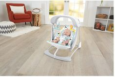 fisher price Deluxe Swing & Seat Cradle Portable Rocker Bouncer sleeper carrier  #FisherPrice
