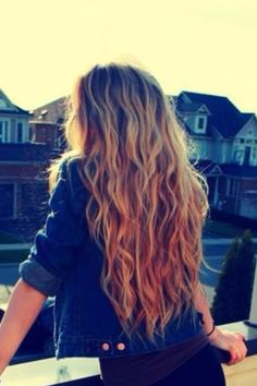 I can't wait for my hair to grow...beach waves are my favorite!