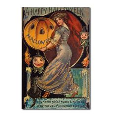 The halloween fairy puffing on the candle flame. Halloween poem printed on this vintage post card: Black cat and child playing on large pump. Retro Halloween, Victorian Halloween, Vintage Halloween Images, Halloween Fairy, Halloween Prints, Halloween Pictures, Vintage Holiday, Halloween Pumpkins, Happy Halloween