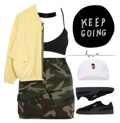 """Sunday 8.14.16"" by monroemaree ❤ liked on Polyvore featuring Wet Seal, Yves Saint Laurent and Puma"
