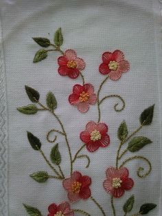 Simple Ribbon Embroidery Designs its Embroidery Patterns For Jeans underneath Embroidery Machine Nesting beyond Embroidery Classes Near Me Hand Embroidery Flowers, Embroidery Works, Flower Embroidery Designs, Simple Embroidery, Ribbon Embroidery, Embroidery Patterns, Brazilian Embroidery Stitches, Hand Embroidery Stitches, Crewel Embroidery