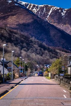 Glencoe Village in the Scottish Highlands.