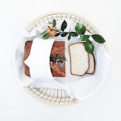 Home-baked gluten-free bread in TineKHome basket #tinekhome #homebaking #glutenfree