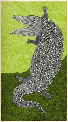 Waterlife: Exquisite Illustrations of Marine Creatures Based on Indian Folk Art | Brain Pickings