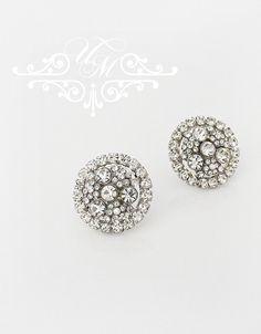 "Rhinestone round earrings studs / Wedding earrings / Weight : 2g size : 0.8"" x 0.8"" 100% Brand New / https://www.etsy.com/listing/169482049/wedding-jewelry-wedding-bridal-earrings?ref=shop_home_active_10"