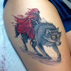 little red riding hood and the wolf tattoo - Google Search