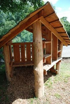Natural playhouse. Great for dramatic play outside, it could represent many things.