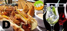 D'Stock Restaurant en Nuevo Vallarta - $122 en lugar de $243 por 1 Orden de Champiñones Salteados + 1 Hotdog Gourmet + 2 Bebidas D'House ó 2 Limonadas Click http://cupocity.com