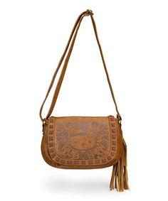 Loving this Brown Hello Kitty Boho Shoulder Bag on #zulily! #zulilyfinds
