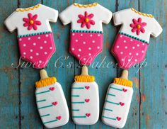 Baby Girl Onesies and Bottles on Etsy, $38.00