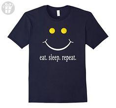 Men's Eat Sleep Pickleball Repeat Pickleball Shirt Large Navy (*Amazon Partner-Link)