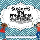 Free!  Who said grammar can't be fun???  Use the Subject and Predicate Activities to liven up your lessons and student learning. You'll receive the follow...