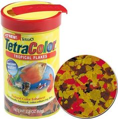 $12.70-$32.99 Tetra Color Tropical Flakes, 7.06-Ounce, 1-Liter - This natural color-enhancing food is a wonderful supplement to the diet of any tropical fish. http://www.amazon.com/dp/B00025K0VC/?tag=pin2pet-20