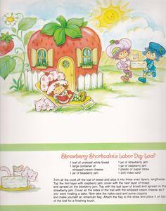 Vintage Strawberry Shortcake 1983 Sweet Treats Calendar - September