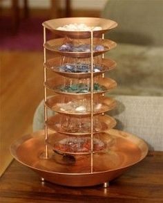 EcoSeek | Chakra Fountain with Stones                                                                                                                                                                                 More