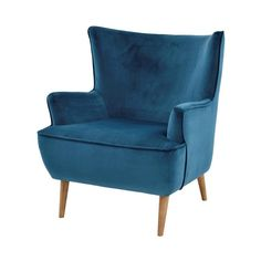 Zita Blue Accent Chair