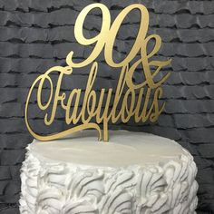 90th Cake Topper 90 Years Loved Cake Birthday Cake Topper Gold