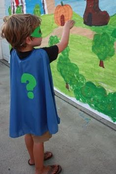 Super why mural ....put the super letters/ message on it