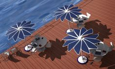 Solar-powered sun shade for sustainable, socially inclusive city landscape