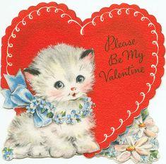 Little Kitten Vintage Valentine