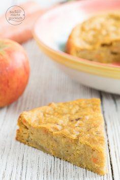 Dieser Apfel-Möhren-Kuchen ohne Zucker und Butter ist schön saftig und fruchtig. Der perfekte Kuchen für Babys, Kinder und alle, die gesund naschen wollen.