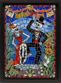 Day of the Dead Mosaic. $450.00, via Etsy.