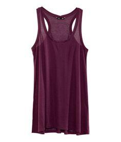 H&M tilbyr mote og kvalitet til beste pris Long Tank Tops, Best Tank Tops, Black Tank Tops, Long Length Shirts, Black Wardrobe, Casual Outfits, Fashion Outfits, Women's Fashion, Moda Online
