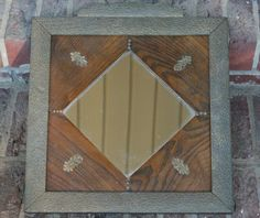 Arts & Crafts Antique Mirror Oak by BluebirdCreekVintage on Etsy