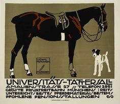 Horse and Dog.   I love the stylized terriers from the first half of last century.