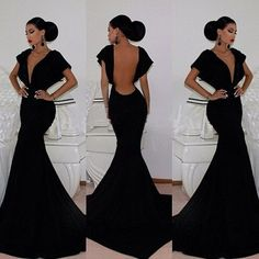 beautiful long black dress