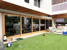 Timber Sliding Doors will create space to make the best use of your living, dining or office area. Allkind Joinery offer custom and standard sizing contact us for a free quote PH: 1800 757 External Sliding Doors, Timber Sliding Doors, Sliding Door Design, Timber Windows, Sliding Panels, Timber Door, Sliding Closet Doors, Sliding Windows, Sliding Glass Door
