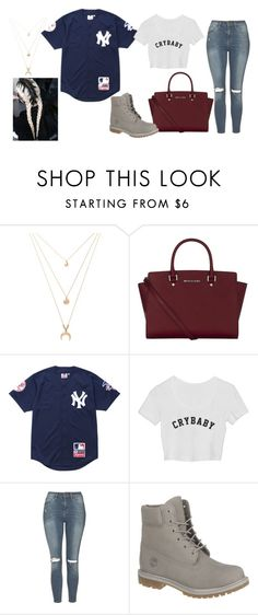 """""""Untitled #385"""" by marea2008 ❤ liked on Polyvore featuring Forever 21, MICHAEL Michael Kors, Supreme, Topshop and Timberland"""