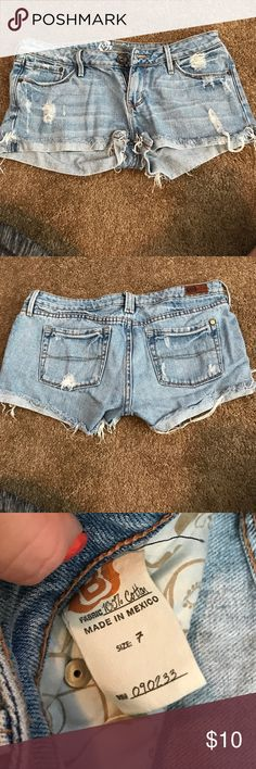 Pacsun shorts Pacsun light blue jean shorts PacSun Shorts Jean Shorts