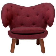 Finn Juhl Garnet Pelican Chair Kvadrat Remix For Sale at 1stdibs
