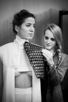 Behind the scenes: Accademia di Costume e di Moda Talents 2014 Giulia Goretti De'Flamini   WEISS ,Ph. by Gerardo Gaetani