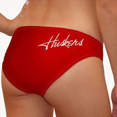 Nebraska Cornhuskers Women's Scarlet Swim Suit Bottom ($24) ❤ liked on Polyvore featuring swimwear, bikinis, bikini bottoms, red, bathing suits two piece, swimsuits bikinis, swimsuit swimwear, red bikini bottoms and swim suits