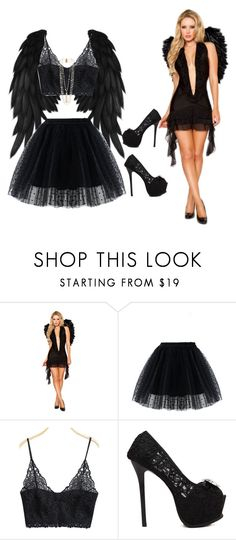 A fashion look from October 2015 featuring sexy halloween costumes, polka dot skirts and lingerie bra. Browse and shop related looks. Black Girl Halloween Costume, Devil Halloween Costumes, Halloween Ideas, Adult Halloween, Halloween 2017, Happy Halloween, Costumes For Teens, Diy Costumes, Costume Ideas