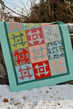 Pattern of the Month February 2014: Modern Churn Dash by Sweet Jane - one of my favorite pattern designers.