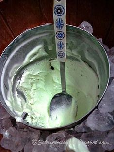 Homemade Pistachio Ice Cream Recipe (Solomon Family Recipes), made with whole milk, condensed milk, evaporated milk, heavy whipping cream, instant pistachio pudding mix, sugar, and vanilla