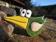 Keramický zápich - ptáček