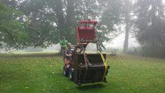 Klaviertransport im Nebel