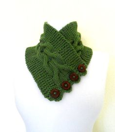 100  cashmereGreenneckwarmers autumn wool by likeknitting on Etsy, $31.99