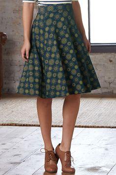 Fair Indigo Fair Trade Organic Full Skirt at Amazon Women's Clothing store: