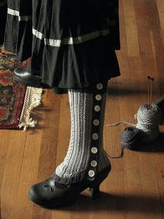 commissioned grey spats-Well heeled Spatterdashes-Ravelry