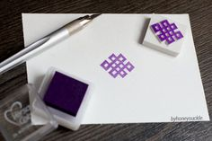 chinese knot rubber stamp geometric pattern stamp by byhoneysuckle